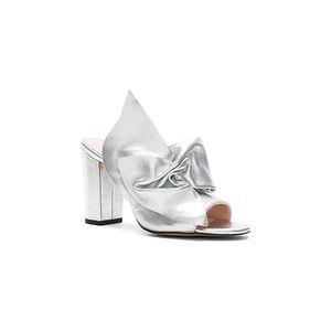 Avec les filles marie bow leather heeled sandals